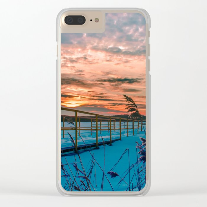 Waiting for the Summer Clear iPhone Case