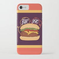 burger iPhone & iPod Cases featuring Burger! by Chelsea Herrick