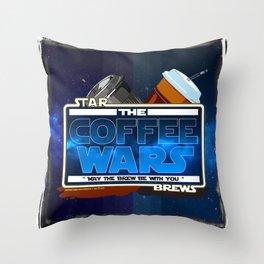 Star Brews - The Coffee Wars - Jeronimo Rubio Photography and Art 2016 Throw Pillow