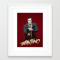 quentin tarantino Framed Art Prints featuring Quentin by CromMorc