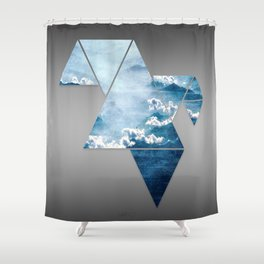 Fragmented Clouds Shower Curtain