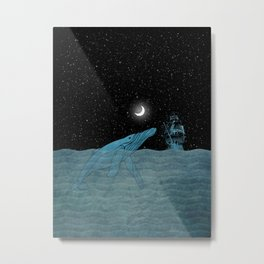 The Whale and the Sea Metal Print