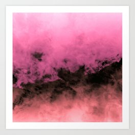 Zero Visibility Highlighter Dust Art Print