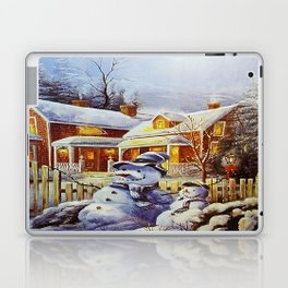 Father & Son Snowman Laptop & iPad Skin