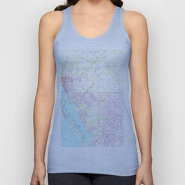 Vintage Map of Englewood & Grove City FL (1956) Unisex Tank Top