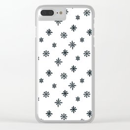 black and white Scandinavian Nursery Prints patterns Clear iPhone Case
