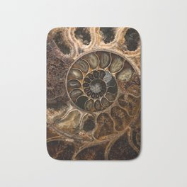 Earth treasures - Fossil in brown tones Bath Mat