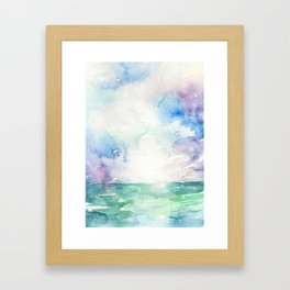 Colored Sky Watercolor Painting Framed Art Print