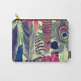 flowers and feathers Carry-All Pouch