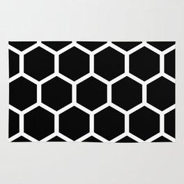 Honeycomb pattern - Black and White Rug