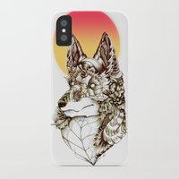 kitsune iPhone & iPod Cases featuring Kitsune by South Spire Seven