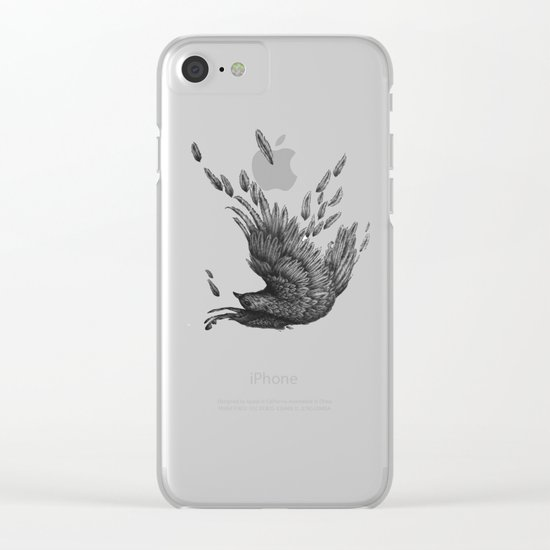 Raven Unravelled in Black Clear iPhone Case