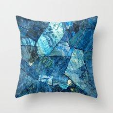 Labradorite Blue Throw Pillow