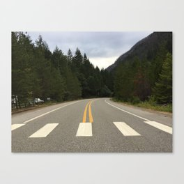 crossing here Canvas Print