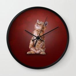Funny kitten Wall Clock