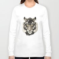 tiger Long Sleeve T-shirts featuring Tiger by Rafapasta