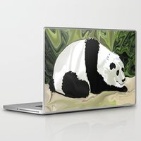 lee pace Laptop & iPad Skins featuring Driving at Panda Pace by Distortion Art