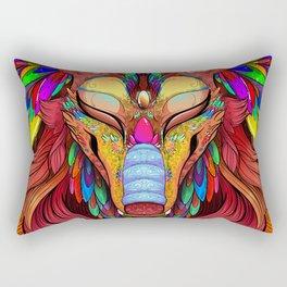 The Joy of Living Colors Rectangular Pillow