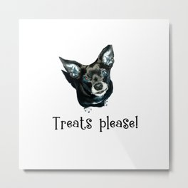 Treats Please! Metal Print