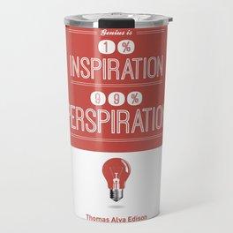 Lab No. 4 - Thomas Alva Edison Quote typography print Inspirational Quotes Poster Travel Mug