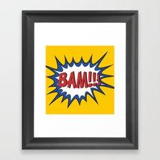 BAM Framed Art Print
