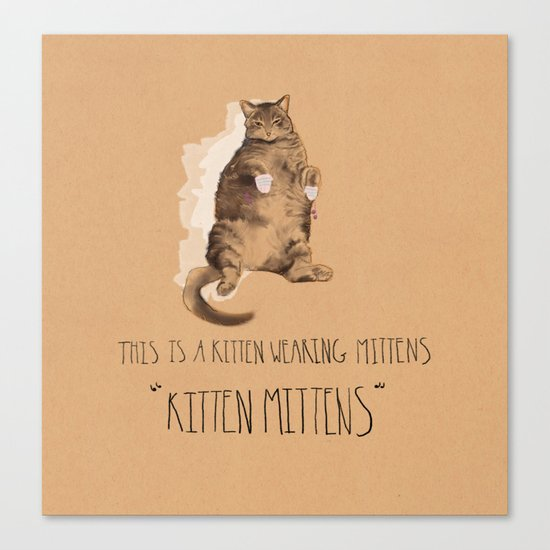 Kitten Mittens Canvas Print