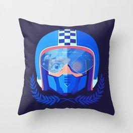 Lightspeed Racer Throw Pillow