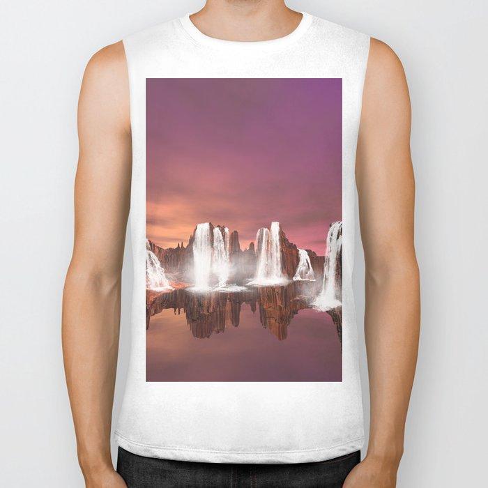 Waterfalls  Biker Tank