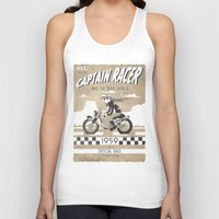 cafe racer Tank Tops featuring CAPTIAN RACER by Morselli Mattia