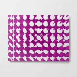 elipse grid pattern_magenta Metal Print