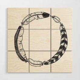 Feather Circle Wood Wall Art