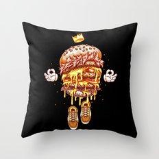 King Burger Throw Pillow