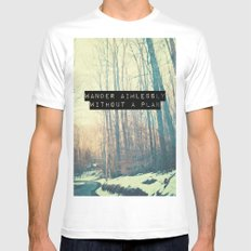 Wander Aimlessly  MEDIUM Mens Fitted Tee White