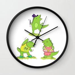 Godzilla's hobbies Wall Clock