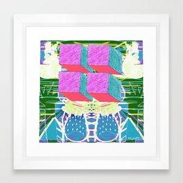 Cube Scene Framed Art Print