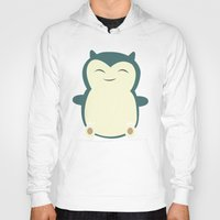 snorlax Hoodies featuring It aint easy being sleepy. by Glassy