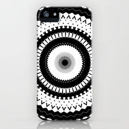 Simple Black White Mandala iPhone Case