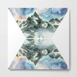 Geometric Mountain - Matterhorn Reflection Metal Print