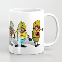 minions Mugs featuring zombie minons by byron rempel