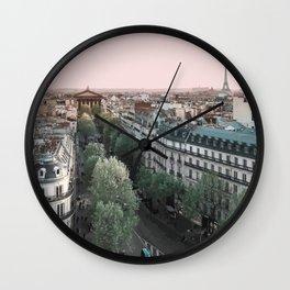 Paris Skyline, France Travel Artwork Wall Clock