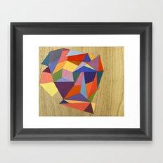 wooden diamond Framed Art Print
