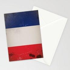 Vintage Flag of France Stationery Cards