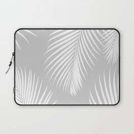 Gray Tropical Pattern Laptop Sleeve