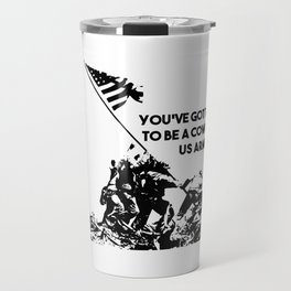 Raising Flag on Iwo Jima US Armed Forces Travel Mug