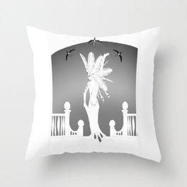 White Mischief Throw Pillow