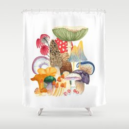 Woodland Mushroom Society Shower Curtain