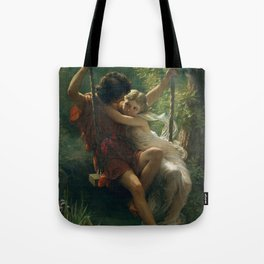 Springtime by Pierre-Auguste Cot 1873, French Tote Bag