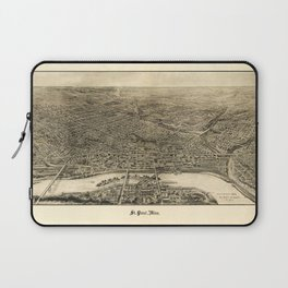 Aerial View of Saint Paul, Minnesota (1906) Laptop Sleeve