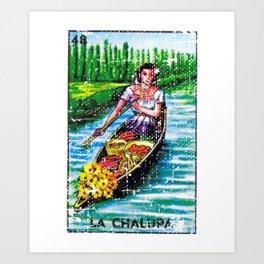 La Chalupa Mexican Loteria Bingo Card Art Print