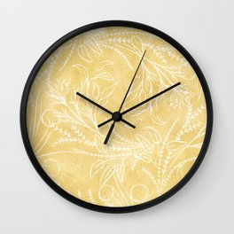 Add Spice to your Life: herb toss ochre Wall Clock